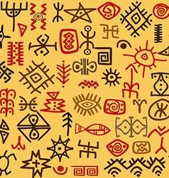 Ethnic symbols background vector image vector image