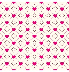 Heart shape seamless pattern Pink and vector image