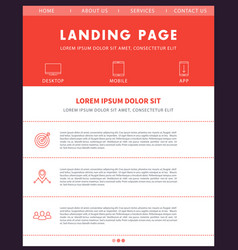 Landing page template website design vector