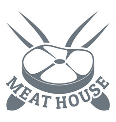 meat house logo simple style vector image