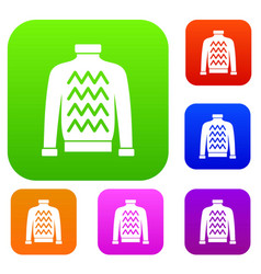 men sweater set collection vector image vector image