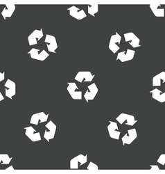 Recycling sign pattern vector image