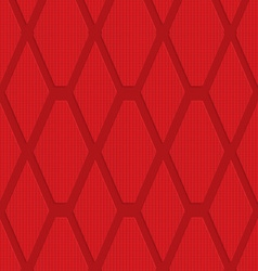 Red checkered diamonds vector image vector image