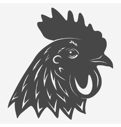 Rooster head icon vector