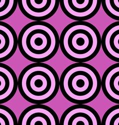Seamless pattern of target circles vector image vector image