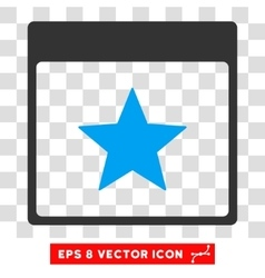 Star calendar page eps icon vector