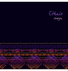 Tribal ornamental design vector image vector image