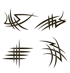 Tribal tattoo design vector