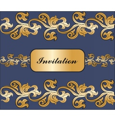 Vintage royal classic ornament invitation border vector