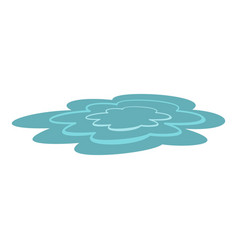 water puddle icon isolated vector image vector image