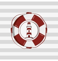 Lighthouse emblem image vector