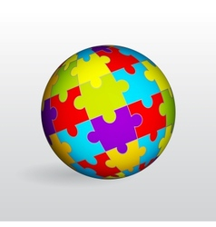 Puzzle sphere vector