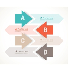 Set of four banners with arrows vector image