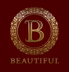 golden logo template for beautiful boutique vector image