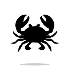 Crab black silhouette aquatic animal vector