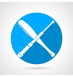 Batons flat icon vector