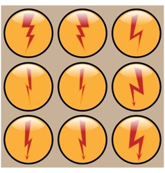 Round icons lightning vector