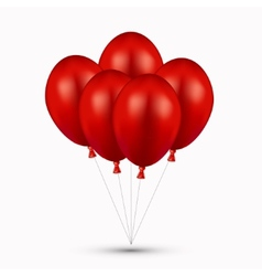Modern red balloons on white vector