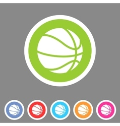 Basketball icon flat web sign symbol logo label vector