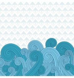 Sea waves on the sea vector