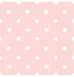 Hand drawn seamless pink irregular dot texture vector