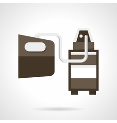 Vehicle emissions analysis flat design icon vector