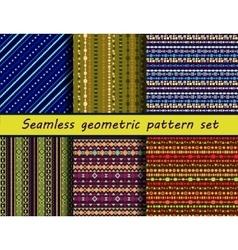 Seamless texture set vector