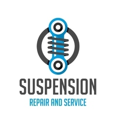 Suspension template logo vector