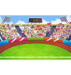 Stadium sports arena background vector