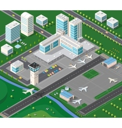 3D isometric industrial vector image