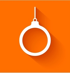 Abstract christmas ball on orange background vector image