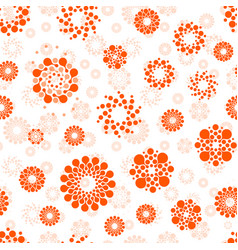 Abstract suns seamless circles design pattern vector