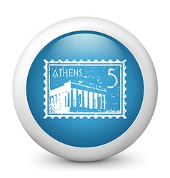 Athens Postage stamp vector image