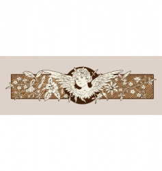 baroque angel vector image vector image