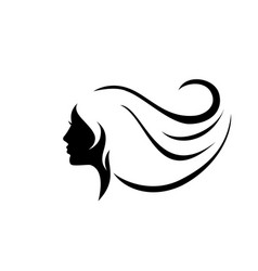 Beautiful woman face icon vector