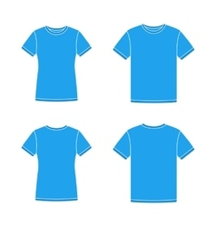 Blue short sleeve t-shirts templates vector