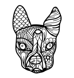 Boston terrier or french bulldog coloring page vector