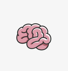 brain icon cartoon style vector image vector image