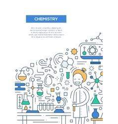 Chemistry - line design brochure poster template vector