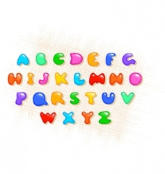 colorful alphabet vector image vector image