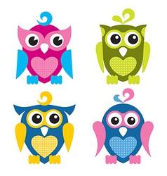 Cute Owls vector image
