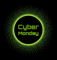 cyber monday sale banner concept design template vector image vector image