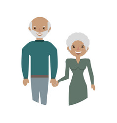 Elderly couple grandparents family vector
