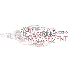 Engage word cloud concept vector
