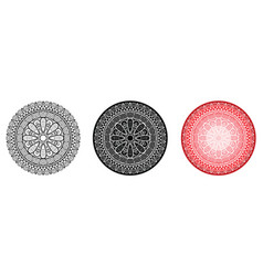 geometry mandala with flower in centre for vector image vector image