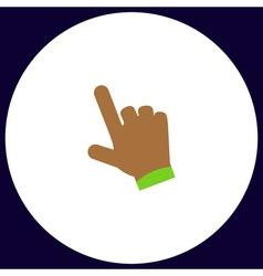 hand cursor computer symbol vector image vector image