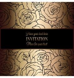 Invitation decorative golds 19 vector