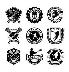 Lacrosse badges vector