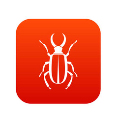 Lucanus cervus icon digital red vector