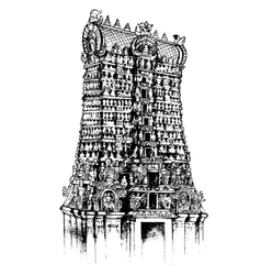 Meenakshi amman temple vector